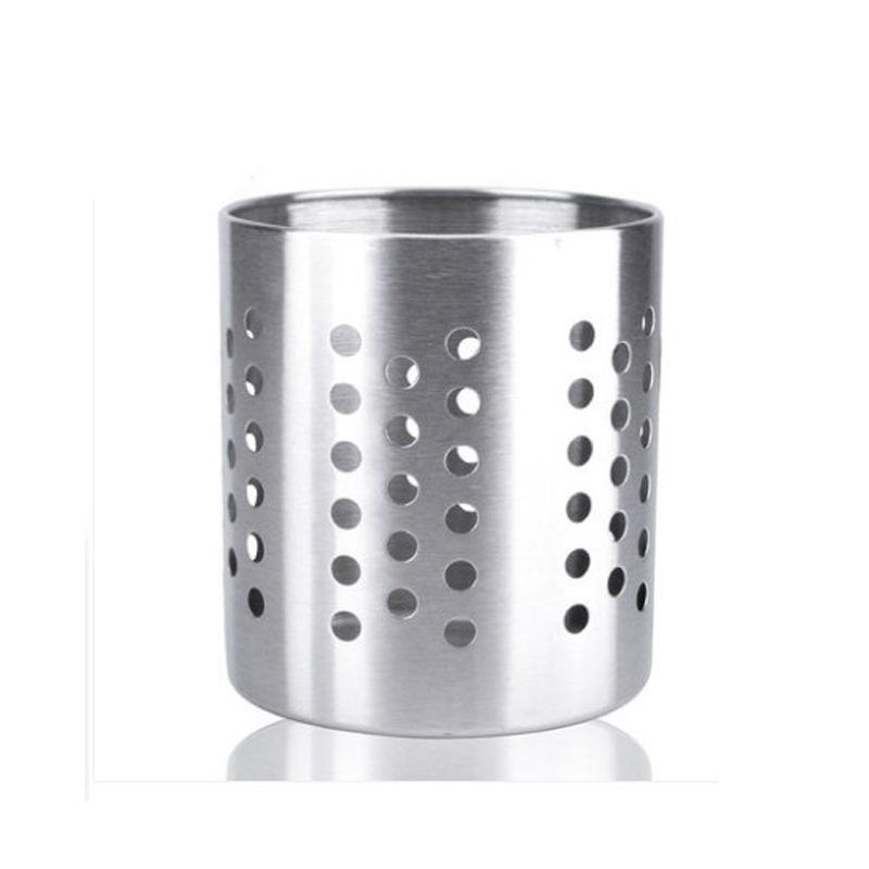 不锈钢带磁筷子筒加厚加高筷子筒储物筒厨房小工具大容量圆孔加粗