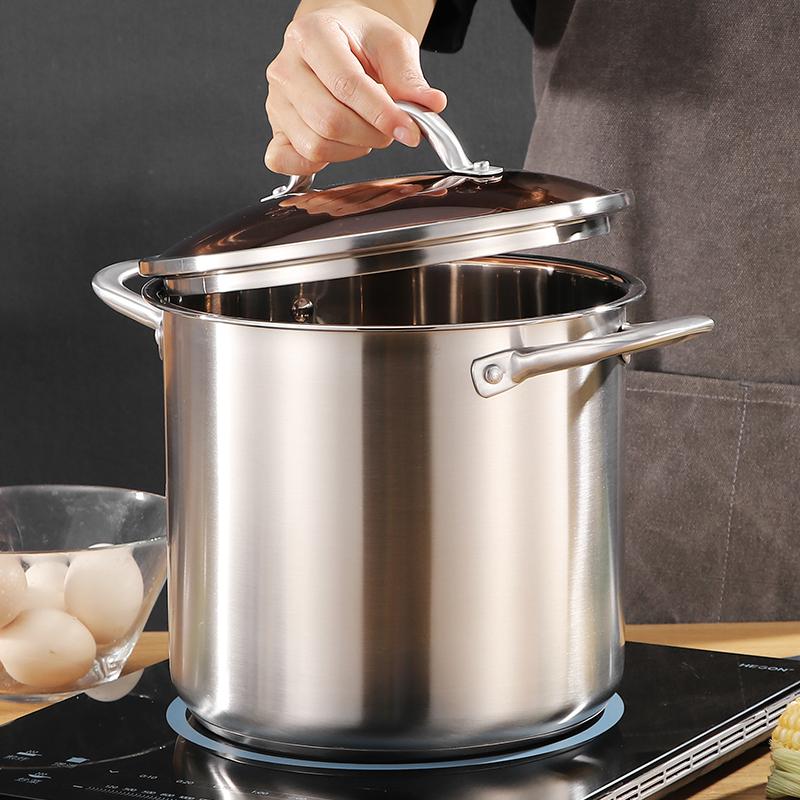 304食品级深汤锅高锅加厚深蒸锅深高蒸锅防烫煲汤锅对规格