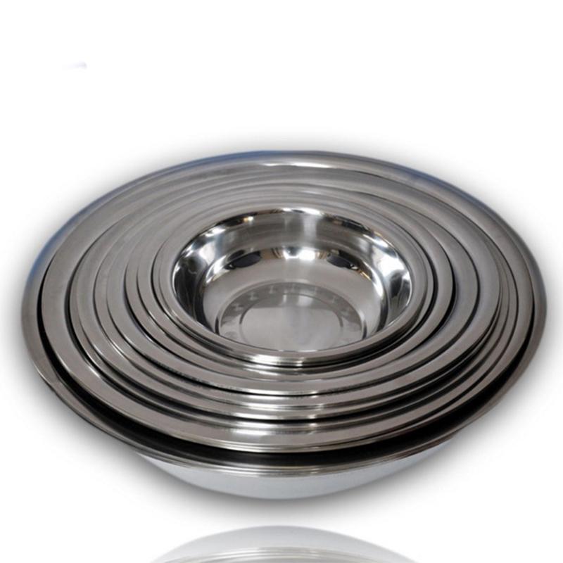 厂家直销 不锈钢反边大斗盆 带磁家用不锈钢盆 加厚斗盆32-80cm