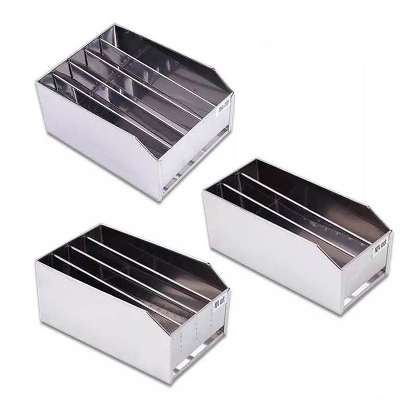 不锈钢带磁刀箱 带盖带锁三格/四格/五格刀架 酒店食堂菜刀架